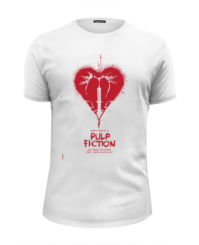 Футболка Wearcraft Premium Slim Fit Printio Pulp fiction - heart семена rose heart 988