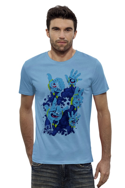 Футболка Wearcraft Premium Slim Fit Printio Руки. футболка wearcraft premium slim fit printio голубой морской кит кашалот