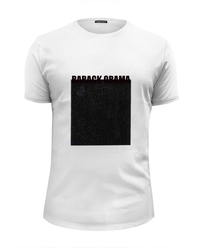 Футболка Wearcraft Premium Slim Fit Printio Barack obama майка классическая printio barack obama