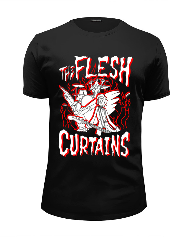 Футболка Wearcraft Premium Slim Fit Printio Рик и морти. the flesh curtains футболка классическая printio рик и морти the flesh curtains