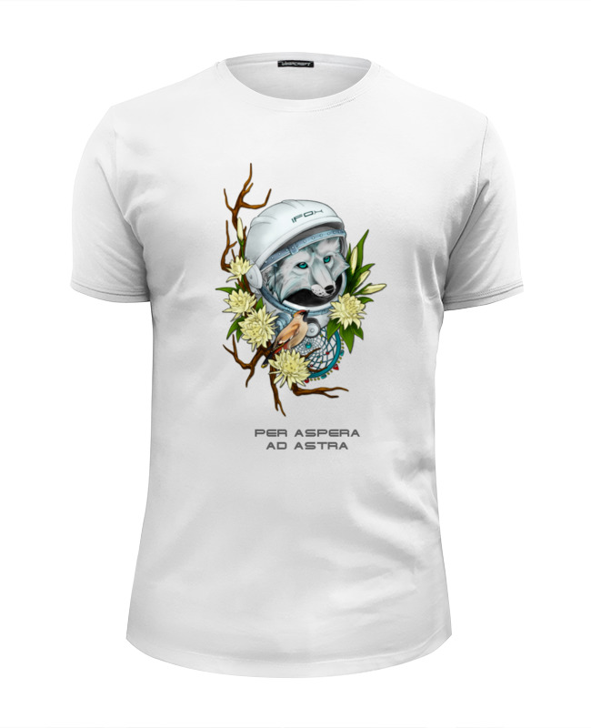 Футболка Wearcraft Premium Slim Fit Printio Per aspera ad astra футболка sem per lei klingel цвет белый бежевый