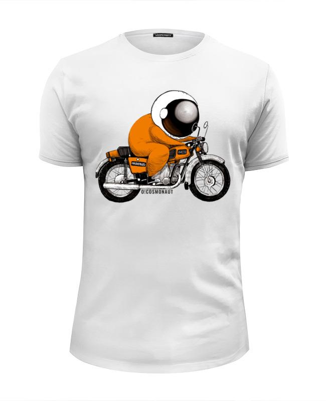 Футболка Wearcraft Premium Slim Fit Printio Космонавт на мотоцикле планета футболка wearcraft premium slim fit printio космонавт и звёздочка хотят отправиться в космос