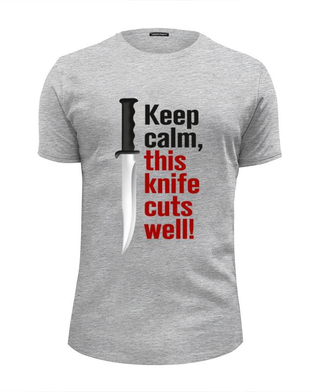 Футболка Wearcraft Premium Slim Fit Printio Нож. режет отлично. футболка стрэйч printio нож режет отлично