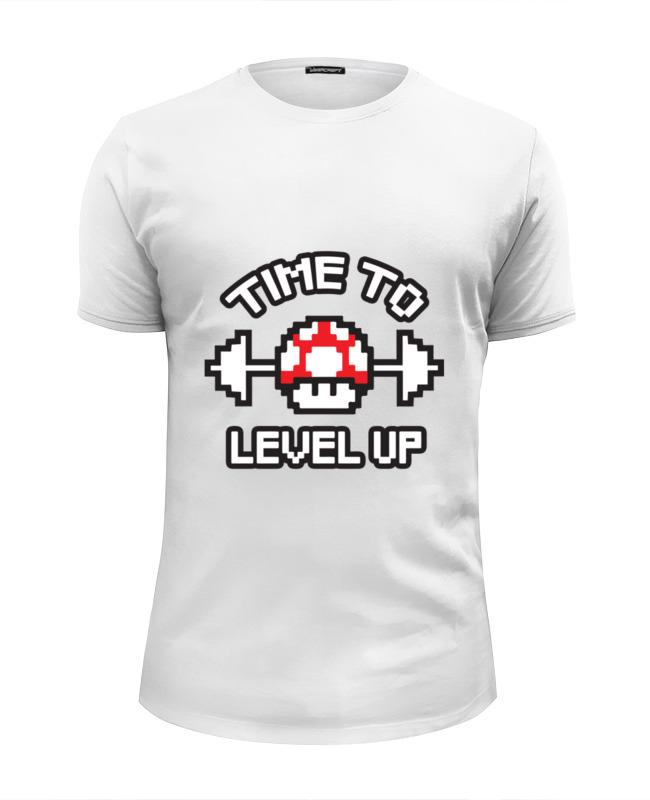 Футболка Wearcraft Premium Slim Fit Printio Time to level up футболка wearcraft premium slim fit printio bounty hunting time