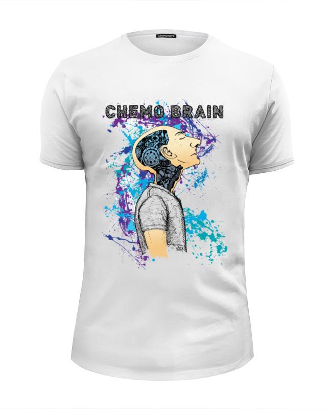 цена Футболка Wearcraft Premium Slim Fit Printio Химия мозга в интернет-магазинах