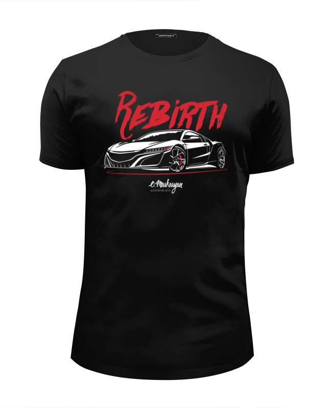 Футболка Wearcraft Premium Slim Fit Printio Acura nsx
