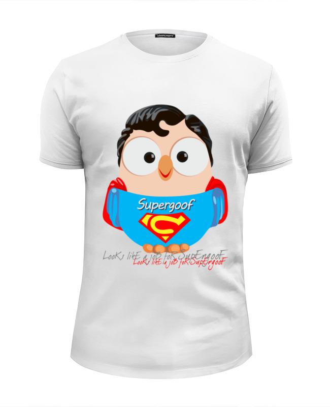 все цены на Футболка Wearcraft Premium Slim Fit Printio Сова супермен суперсова goofi онлайн
