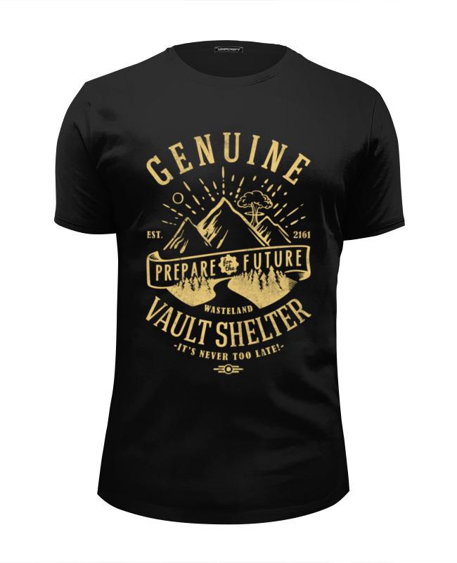 Футболка Wearcraft Premium Slim Fit Printio Fallout. vault shelter туника shelter shelter mp002xw13uru