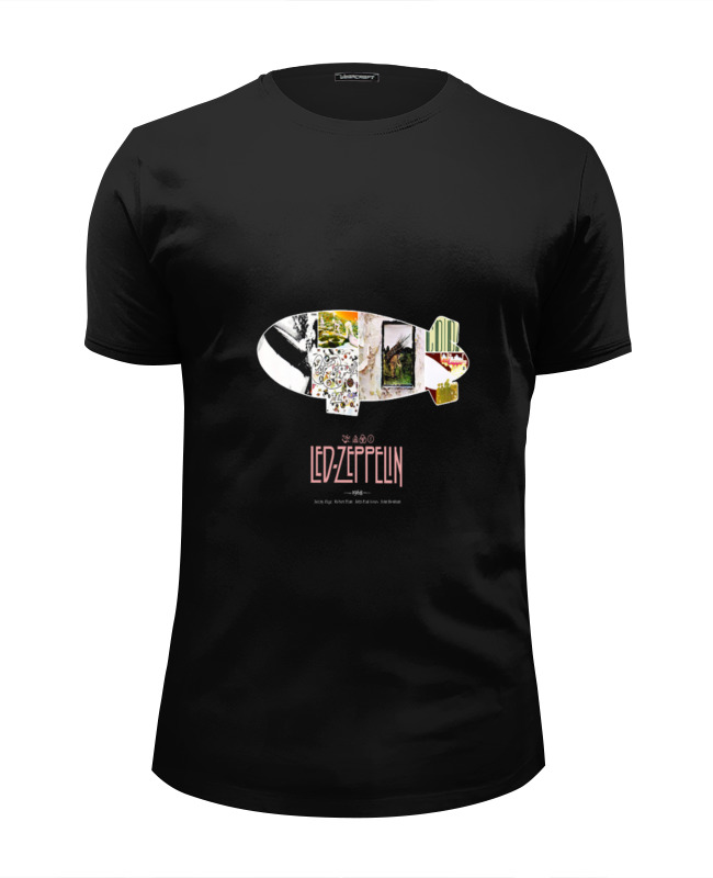 Футболка Wearcraft Premium Slim Fit Printio Группа led zeppelin виниловая пластинка led zeppelin led zeppelin 3lp