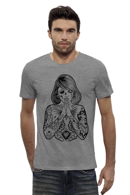 Футболка Wearcraft Premium Slim Fit Printio Tattoo girl футболка wearcraft premium slim fit printio tattoo girl