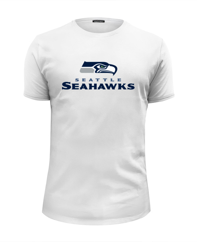 Футболка Wearcraft Premium Slim Fit Printio Seattle seahawks майка print bar seattle seahawks
