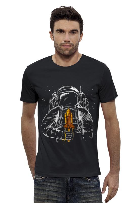 Футболка Wearcraft Premium Slim Fit Printio Космонавт футболка wearcraft premium slim fit printio космонавт