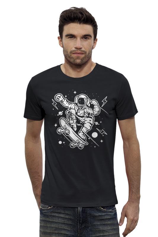 Футболка Wearcraft Premium Slim Fit Printio Космонавт на скейте футболка wearcraft premium slim fit printio космонавт