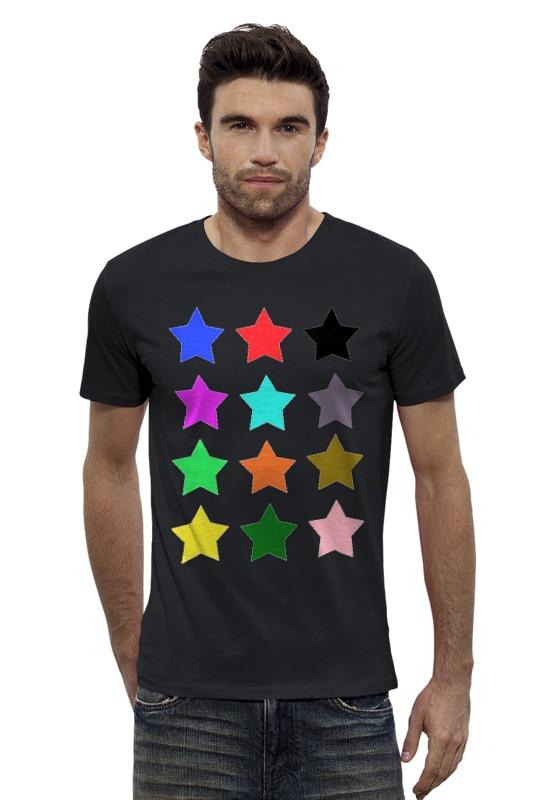 Футболка Wearcraft Premium Slim Fit Printio stars on the black толстовка wearcraft premium унисекс printio stars on the black
