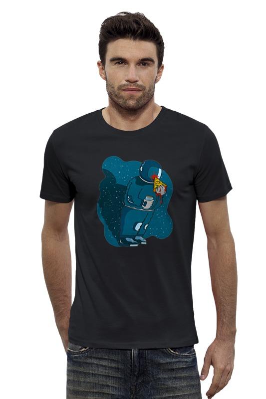 Футболка Wearcraft Premium Slim Fit Printio Космонавт с пиццой футболка wearcraft premium slim fit printio космонавт