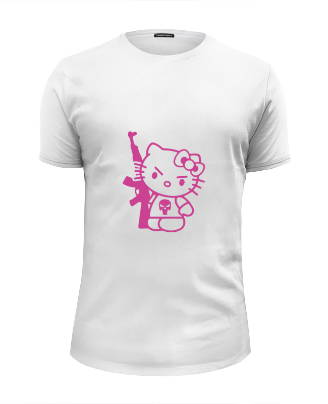Футболка Wearcraft Premium Slim Fit Printio Hello kitty ak-47 футболка wearcraft premium slim fit printio kitty gang hello kitty