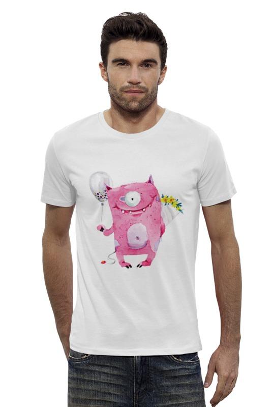 Футболка Wearcraft Premium Slim Fit Printio Милый розовый монстр футболка wearcraft premium printio милый кит