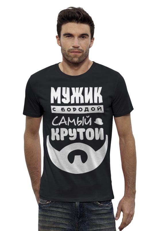 Футболка Wearcraft Premium Slim Fit Printio Мужик с бородой