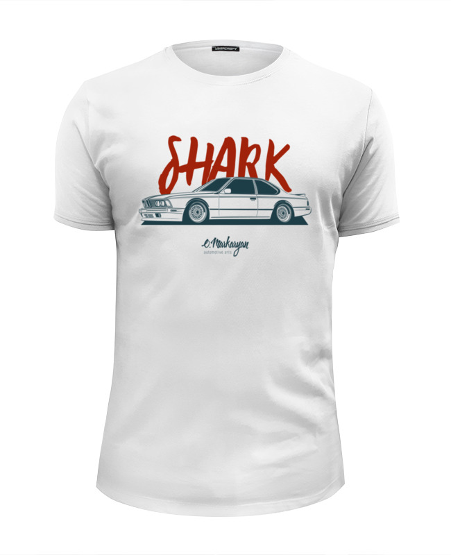 Футболка Wearcraft Premium Slim Fit Printio Shark. e24 m6 футболка wearcraft premium slim fit printio shark attack