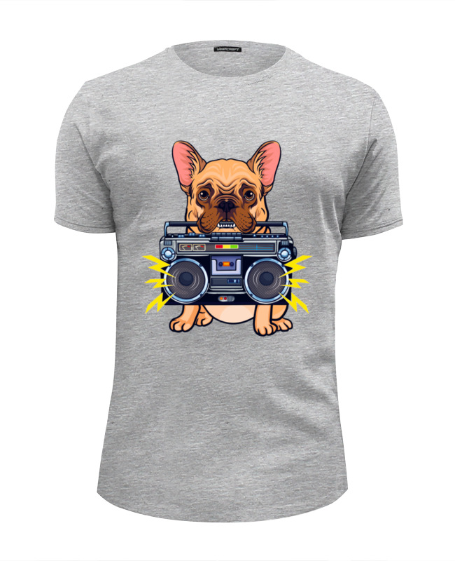 Printio Dog boombox футболка wearcraft premium slim fit printio roar dog