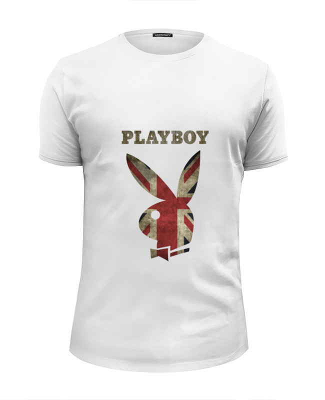 Футболка Wearcraft Premium Slim Fit Printio Playboy британский флаг