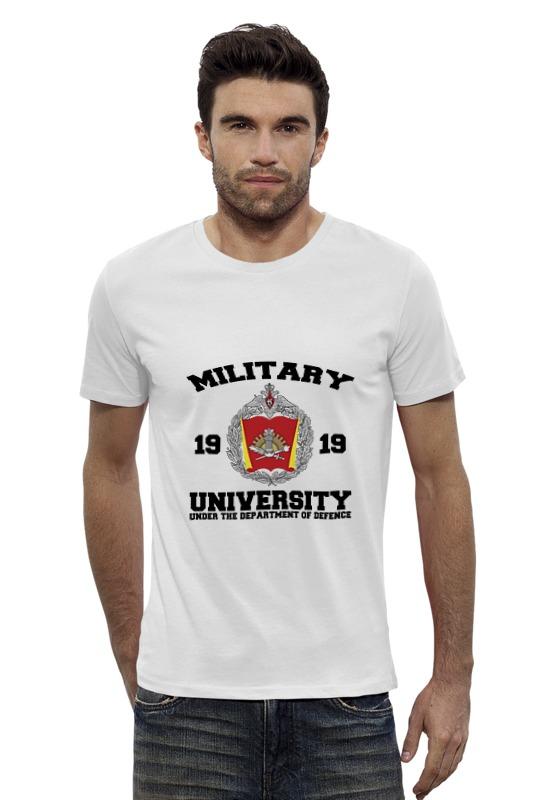 Футболка Wearcraft Premium Slim Fit Printio 2016 военный университет мо рф (белая) погоны парадные мо вс в калуге