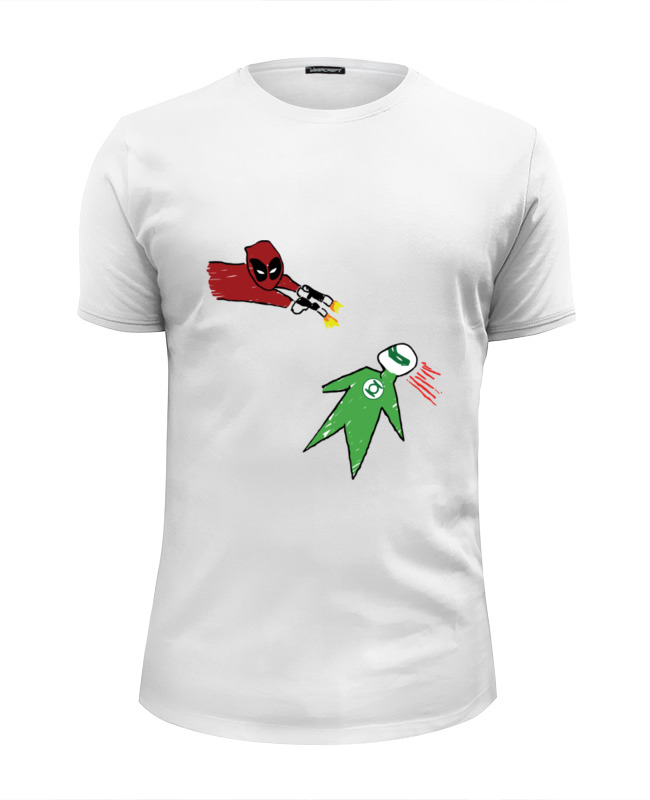 Футболка Wearcraft Premium Slim Fit Printio Дэдпул и зеленый фонарь футболка wearcraft premium slim fit printio зеленый слоник