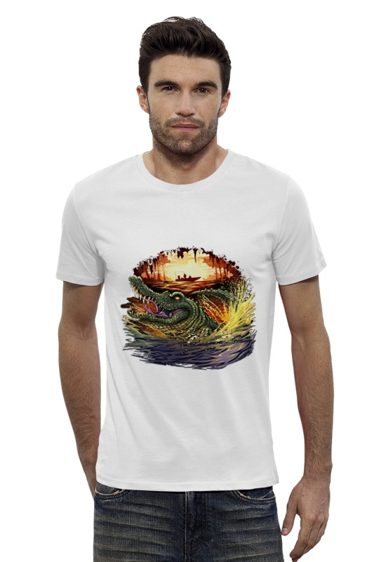 Футболка Wearcraft Premium Slim Fit Printio Крокодил футболка wearcraft premium slim fit printio шахматиста