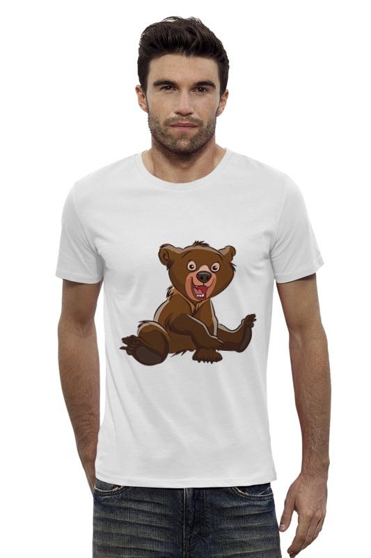 Футболка Wearcraft Premium Slim Fit Printio Медвежонок фомка белый медвежонок