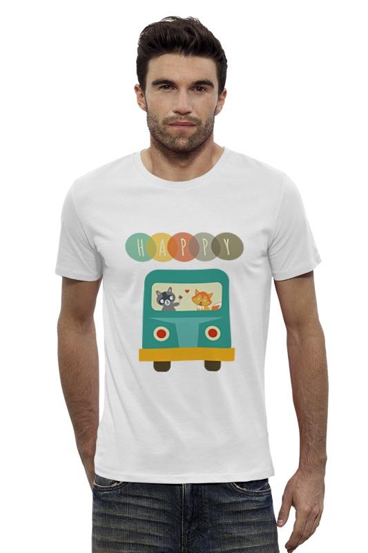 Футболка Wearcraft Premium Slim Fit Printio Happy футболка wearcraft premium slim fit printio avengers