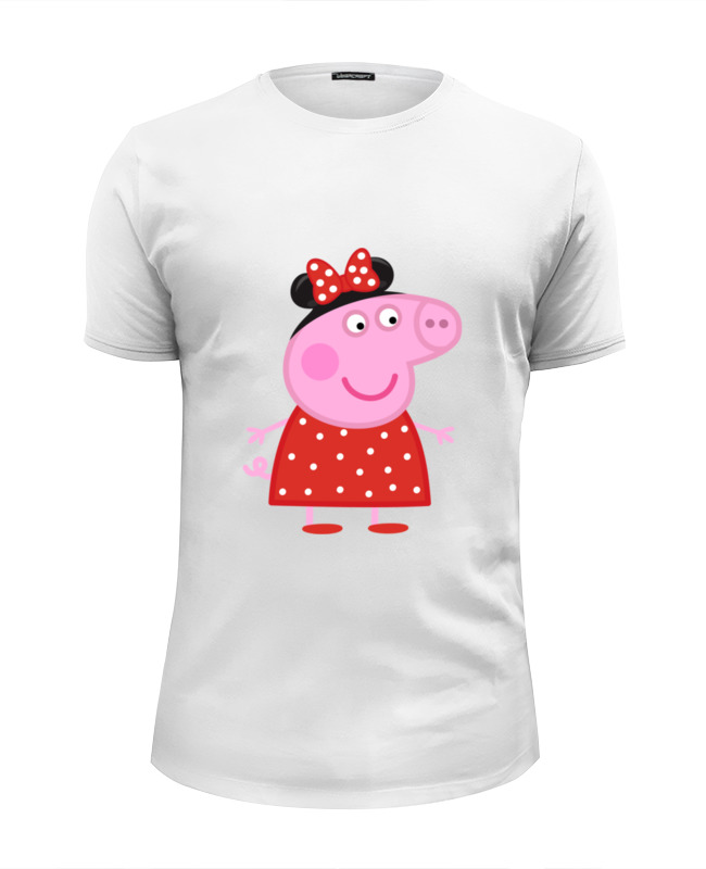 Футболка Wearcraft Premium Slim Fit Printio Peppa pig набор для лепки peppa pig свинка пеппа