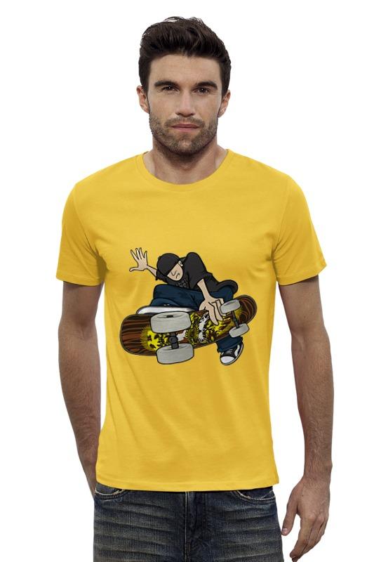 Футболка Wearcraft Premium Slim Fit Printio Скейтбордист футболка wearcraft premium slim fit printio avengers