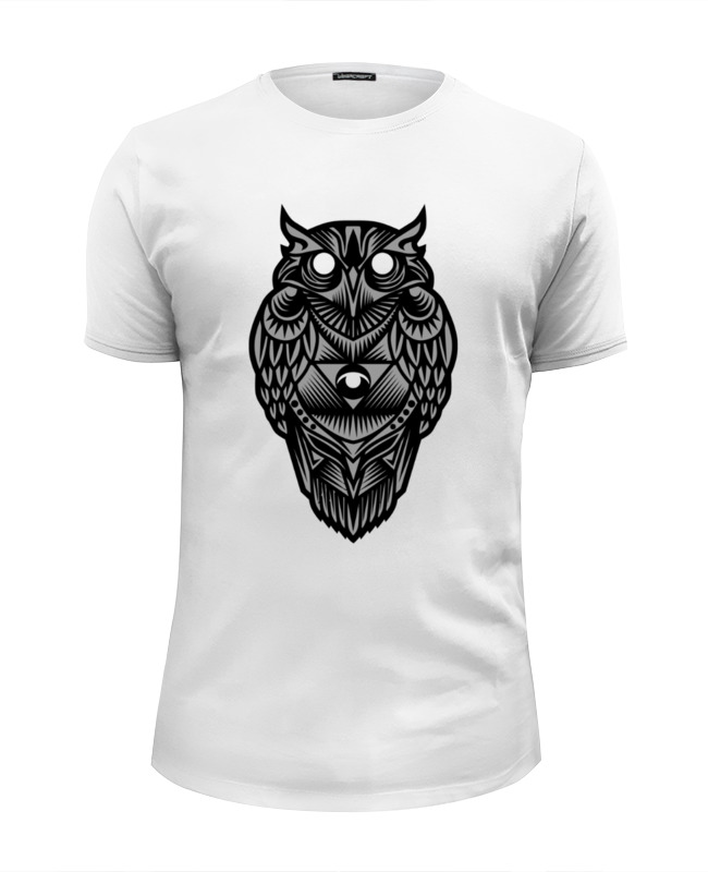 Футболка Wearcraft Premium Slim Fit Printio Сова (owl) цены онлайн