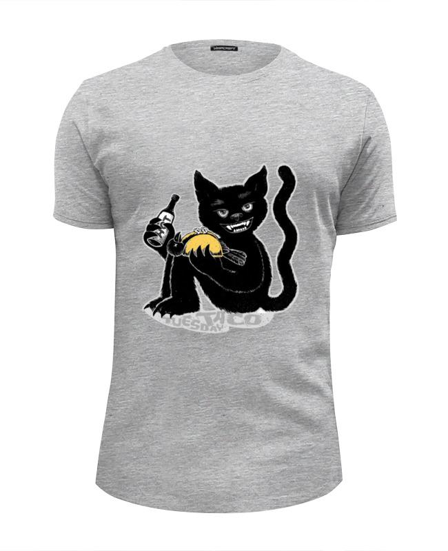 Футболка Wearcraft Premium Slim Fit Printio Наглый чёрной кот футболка wearcraft premium slim fit printio кот суши