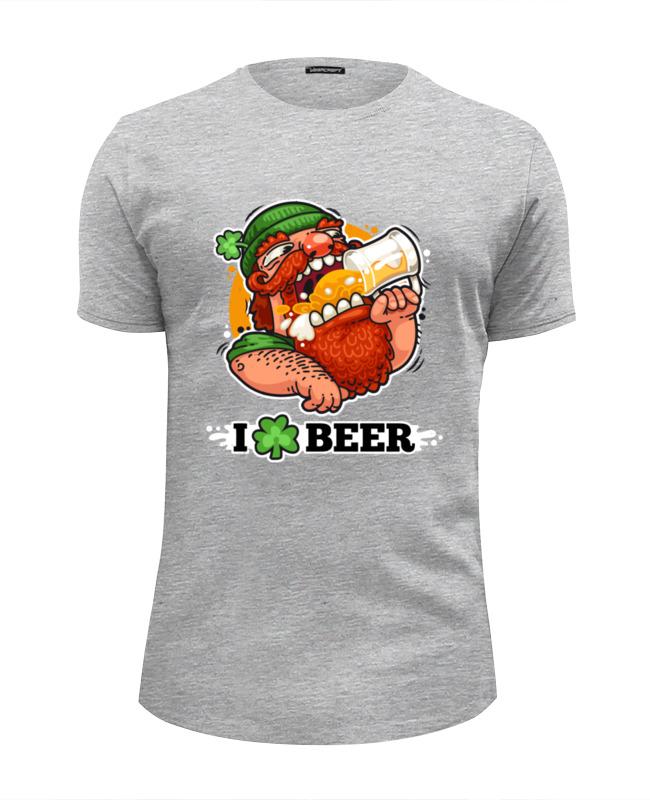 Футболка Wearcraft Premium Slim Fit Printio Я люблю пиво (i love beer) футболка wearcraft premium slim fit printio i love ny