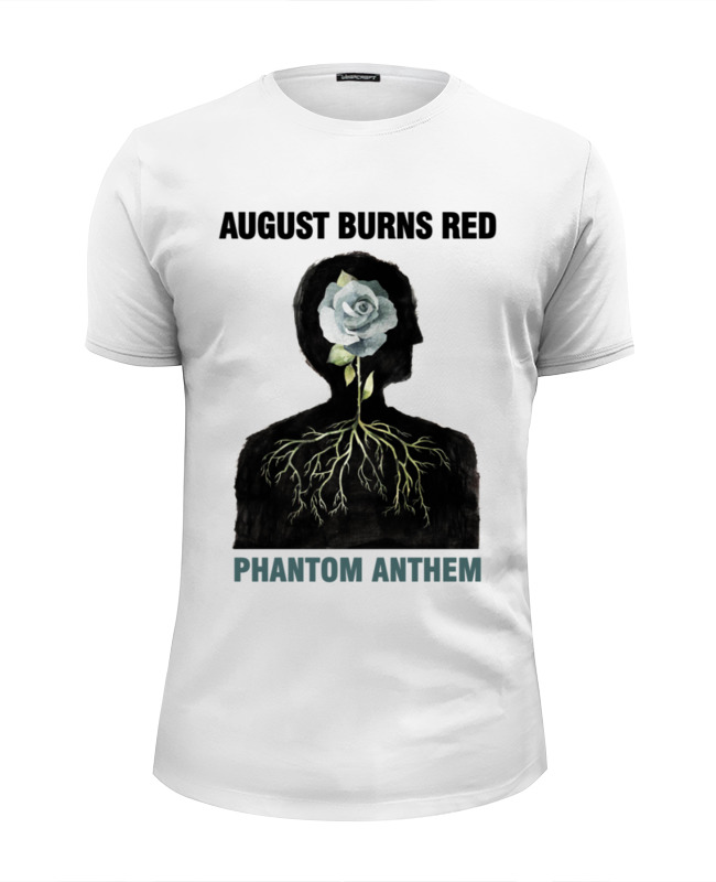 Футболка Wearcraft Premium Slim Fit Printio August burns red grey crossed front design v neck long sleeves t shirts