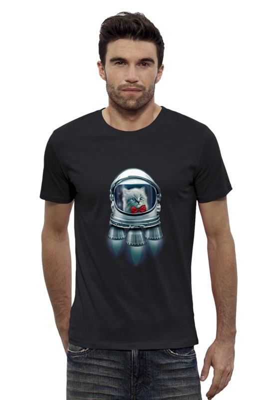 Футболка Wearcraft Premium Slim Fit Printio Котёнок космонавт футболка wearcraft premium slim fit printio космонавт
