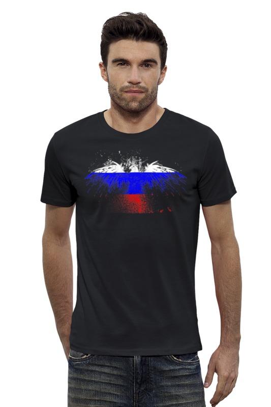 Футболка Wearcraft Premium Slim Fit Printio Флаг россии флаг пограничных войск россии великий новгород