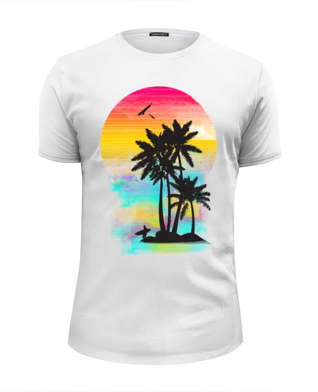 Футболка Wearcraft Premium Slim Fit Printio Cолнечный пляж футболка wearcraft premium printio sunset beach пляж