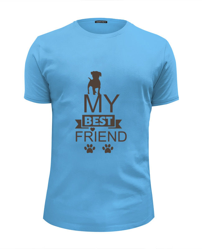 Футболка Wearcraft Premium Slim Fit Printio My best friend bosch my friend mix 20