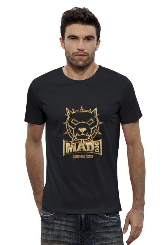 Футболка Wearcraft Premium Slim Fit Printio Mad dog gold mad about organics all natural dog