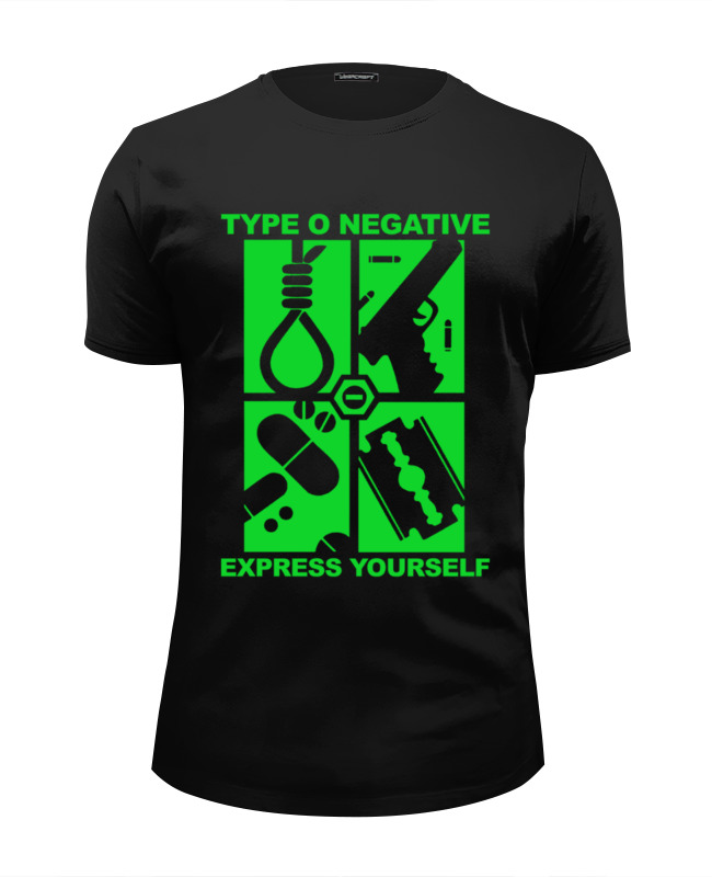 Футболка Wearcraft Premium Slim Fit Printio Type o negative / express yourself майка классическая printio type o negative express yourself