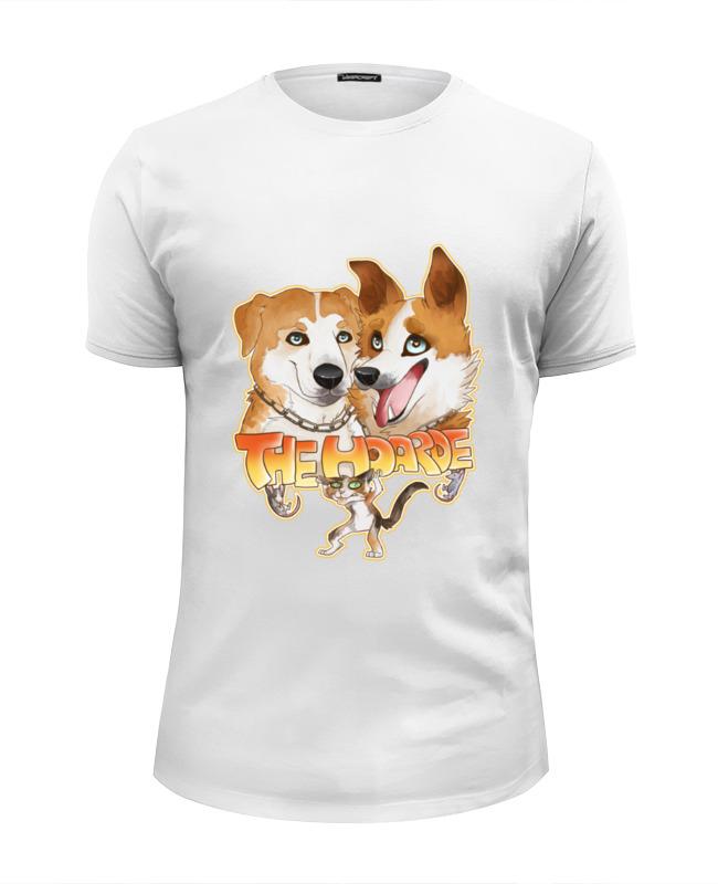 Футболка Wearcraft Premium Slim Fit Printio Две собаки футболка wearcraft premium printio две руки