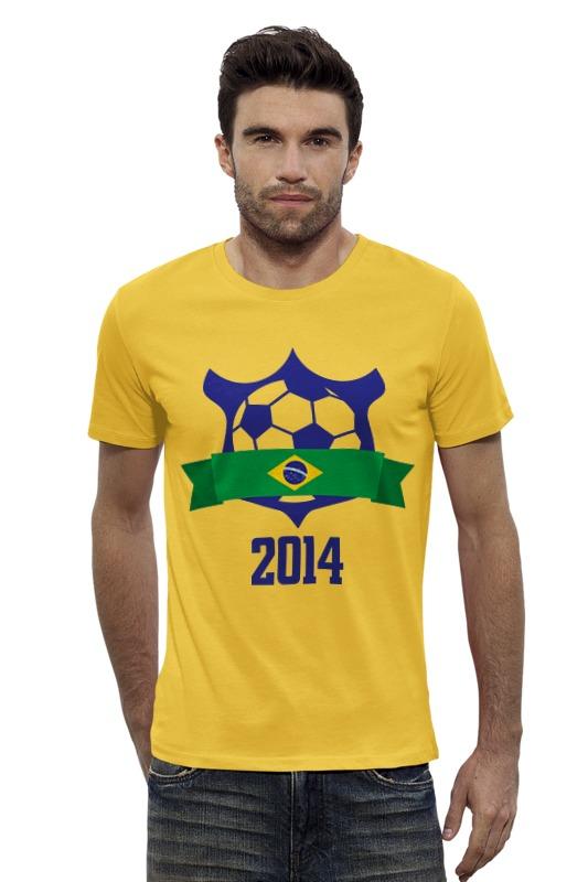 Футболка Wearcraft Premium Slim Fit Printio Fifa world cup 2014 fifa 2014 как игрока