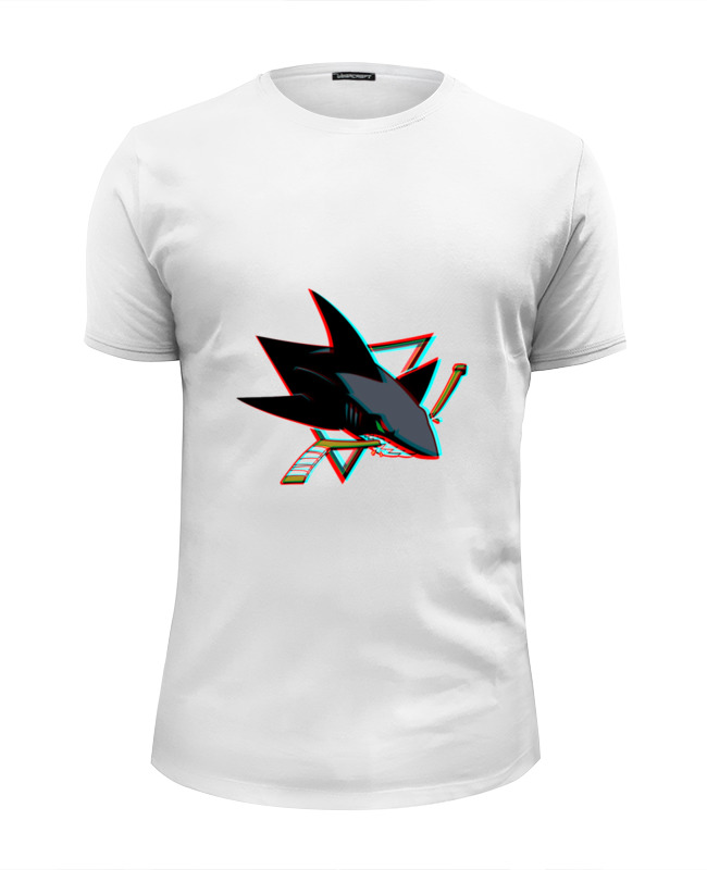 Футболка Wearcraft Premium Slim Fit Printio San jose sharks ang 55 жикле ангелы хранители дома 18х24