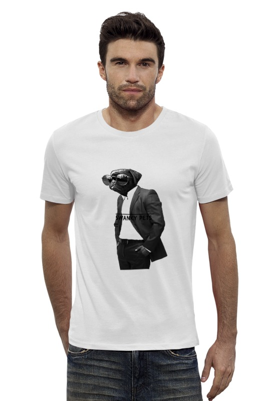 Футболка Wearcraft Premium Slim Fit Printio Собака в костюме футболка wearcraft premium slim fit printio кит в банке
