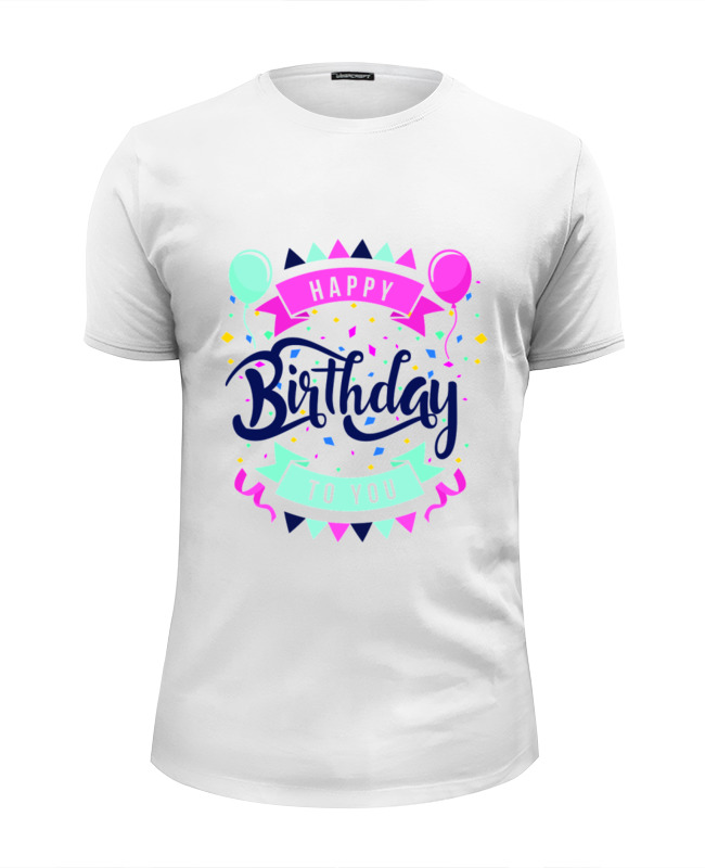 Футболка Wearcraft Premium Slim Fit Printio С днём рождения футболка wearcraft premium slim fit printio день рождения