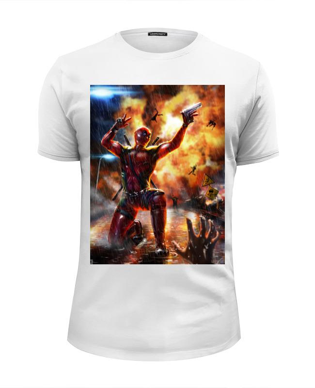 Футболка Wearcraft Premium Slim Fit Printio Дэдпул (deadpool) футболка wearcraft premium slim fit printio deadpool merc gym