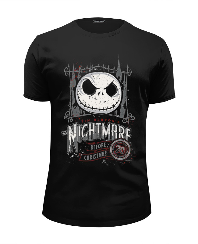 Футболка Wearcraft Premium Slim Fit Printio The nightmare before christmas