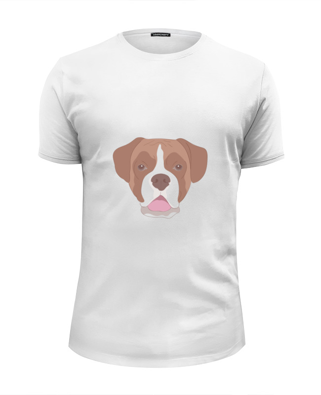 Футболка Wearcraft Premium Slim Fit Printio Бульдог футболка wearcraft premium printio французский бульдог